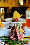 March 19, 2009; Orlando, Fla, USA;  Cafe Tu Tu Tangofor Orlando Magazine Food Awards. FROM FRONT CLOCKWISE: Flame grilled Baby Lamb chops, Tango Bang Bang Shrimp, Sesame Seared Tuna Sashimi..©2009 Scott A. Miller