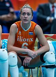 20-10-2018 JPN: Final World Championship Volleyball Women day 18, Yokohama<br /> China - Netherlands 3-0 / Maret Balkestein-Grothues #6 of Netherlands