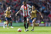 Sunderland's Midfielder Yann M'Vila (21) in action during the Barclays Premier League match between Sunderland and Arsenal at the Stadium Of Light, Sunderland, England on 24 April 2016. Photo by George Ledger.