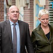NLD/Amsterdam/20171014 - Besloten  herdenkingsdienst overleden burgemeester Eberhard van der Laan, Andre Kuipers en partner Helene