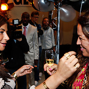 NLD/Amsterdam/20100901 - Glamour magazine bestaat 5 jaar, Olcay Gulsen  en Tessa koops