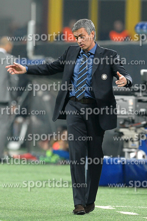 20.04.2010, Giuseppe Meazza Stadion, Mailand, ITA, UEFA CL, Inter Mailand vs FC Barcelona im Bild Jose Mourinho, EXPA Pictures © 2010, PhotoCredit: EXPA/ InsideFoto/ Andrea Staccioli / SPORTIDA PHOTO AGENCY