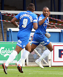 Peterborough United's Tyrone Barnett celebrates - Photo mandatory by-line: Joe Dent/JMP - Tel: Mobile: 07966 386802 05/10/2013 - SPORT - FOOTBALL - London Road Stadium - Peterborough - Peterborough United V Preston North End - Sky Bet League 1