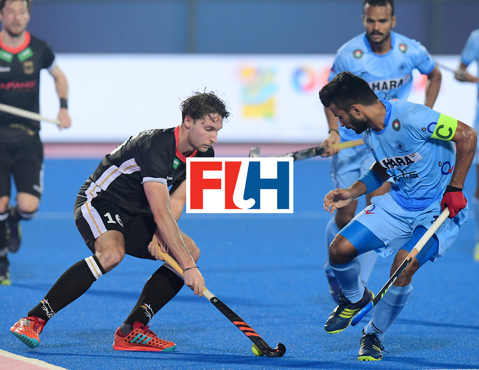 Odisha Men's Hockey World League Final Bhubaneswar 2017<br /> Match id:10<br /> India v Germany<br /> Foto: Dieter Linnekogel (Ger) and Manpreet Singh (Ind) <br /> WORLDSPORTPICS COPYRIGHT FRANK UIJLENBROEK