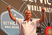 Steve Beaton during the First Round of the BetVictor World Matchplay Darts at the Empress Ballroom, Blackpool, United Kingdom on 19 July 2015. Photo by Shane Healey.