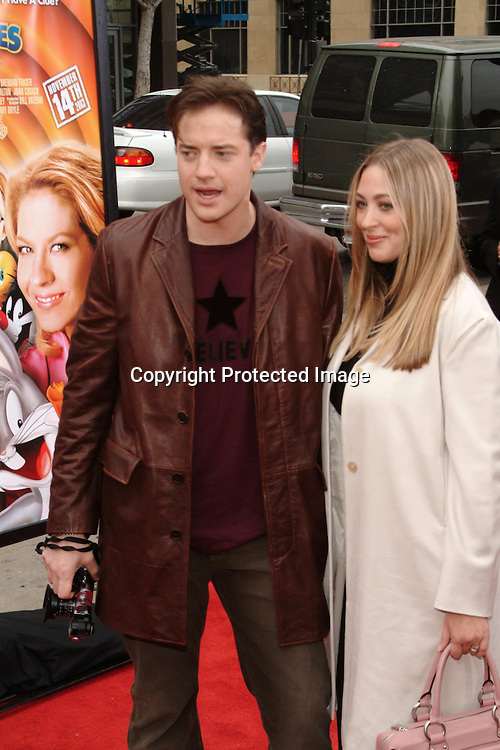 Brendan Fraser and Wife Afton Smith<br />
