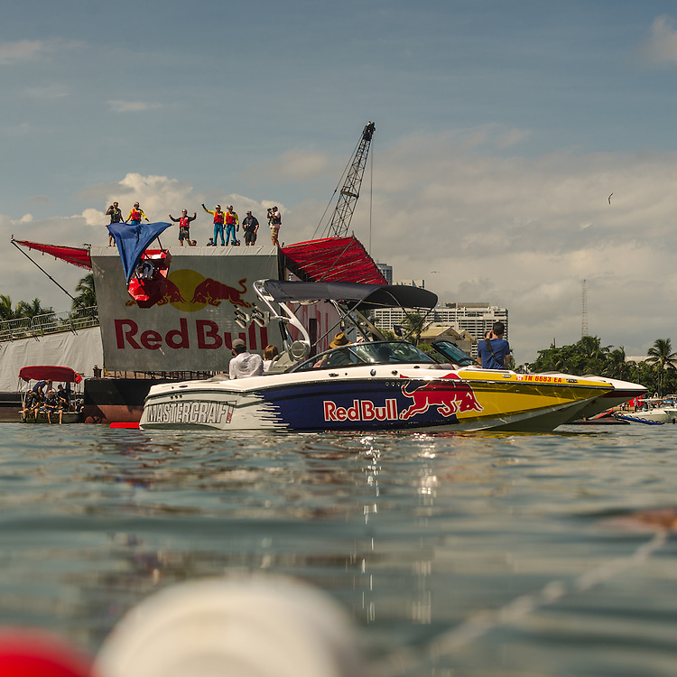 Dispicable Me: Return of the Minions competes the Red Bull Flugtag in Miami, FL, USA, on 21 September 2013.