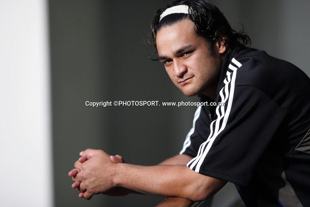 Piri Weepu during the All Blacks media session held at the Heritage Hotel, Auckland, on Wednesday 30 May 2007. Photo: Andrew Cornaga/PHOTOSPORT