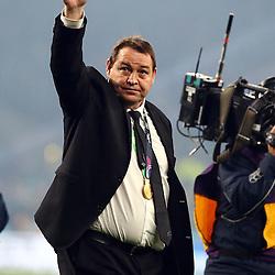 LONDON, ENGLAND - OCTOBER 31: Steve Hansen (Head Coach) of New Zealand during the Rugby World Cup Final match between New Zealand vs Australia Final, Twickenham, London on October 31, 2015 in London, England. (Photo by Steve Haag)
