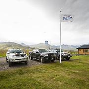 The fishing lodge Eyjar at Breiðdalsá river, Iceland.