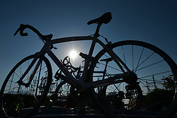 October 10, 2018 - Antalya, Turkey - Team cars awaiting the second stage - the Sportoto 154.1km Alanya - Antalya, of the 54th Presidential Cycling Tour of Turkey 2018. .On Wednesday, October 10, 2018, in Antalya, Turkey. (Credit Image: © Artur Widak/NurPhoto via ZUMA Press)