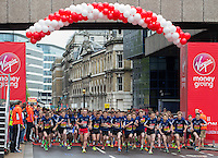 Mini London marathon 2015, The Boys Under 15 race starts at Billingsgate. The Virgin Money Giving Mini Marathon, Sunday 26th April 2015.<br />