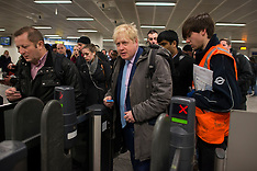 FEB 05 2014 Boris on the Tube during Tube strike