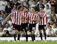 Photo: Paul Thomas.<br /> Leeds United v Sunderland. Coca Cola Championship. 13/09/2006.<br /> <br /> Liam Miller (36) and Sunderland celebrate his goal.