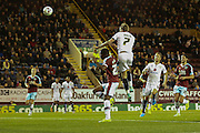 Milton Keynes Dons midfielder Carl Baker sores the equaliser  during the Sky Bet Championship match between Burnley and Milton Keynes Dons at Turf Moor, Burnley, England on 15 September 2015. Photo by Simon Davies.