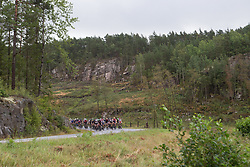 The peloton approaches the first intermediate sprint on Stage 3 of the Ladies Tour of Norway - a 156.6 km road race, between Svinesund (SE) and Halden on August 20, 2017, in Ostfold, Norway. (Photo by Balint Hamvas/Velofocus.com)