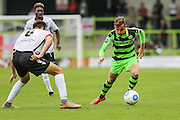 Forest Green Rovers Elliott Frear (11) takes on Bromley's Daniel Johnson(3) during the Vanarama National League match between Forest Green Rovers and Bromley FC at the New Lawn, Forest Green, United Kingdom on 17 September 2016. Photo by Shane Healey.