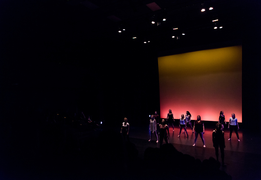 Students perform at the Spring Dance Concert. Photo by Edward Bell.