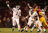 25 OCTOBER 2008: Texas A&M quarterback Jerrod Johnson (1) throws a pass in the first half of an NCAA college football game between Iowa State and Texas A&M, at Jack Trice Stadium in Ames, Iowa on Saturday Oct. 25, 2008. Texas A&M beat Iowa State 49-35.