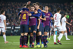 December 5, 2018 - Barcelona, Spain - Munir goal celebration during the match between FC Barcelona and Cultural Leonesa, corresponding to the 1/16 final of the spanish King Cuo, played at the Camp Nou Stadium on 05th December 2018 in Barcelona, Spain. Photo: Joan Valls/Urbanandsport /NurPhoto. (Credit Image: © Joan Valls/NurPhoto via ZUMA Press)