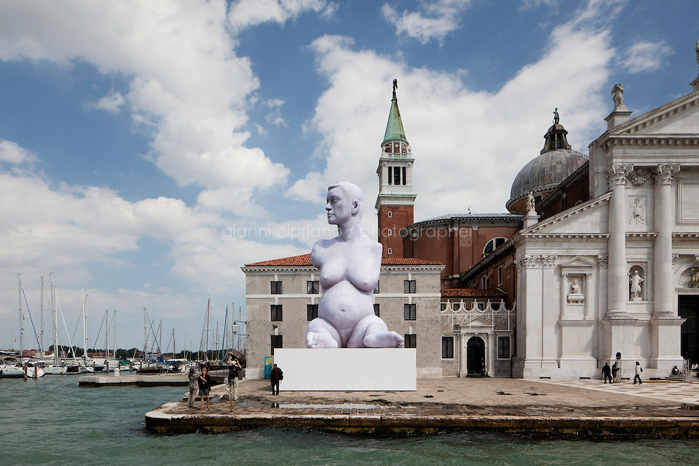 VENICE, ITALY - 27 MAY 2013: &quot;Breath&quot;, 2012, double layer polyester and high capacity air pumps (dimensions: 11m - 36ft) by artist Marc Quinn, is here at the San Giorgio island in Venice, Italy, on May 27th 20113.<br /> <br /> The 55th International Art Exhibition of the Venice Biennale takes place in Venice from June 1st to November 24th, 2013 at the Giardini and at the Arsenale as well as in various venues the city. <br /> <br /> Gianni Cipriano for The New York TImes