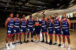 Bristol Flyers team picture at Areospace - Mandatory by-line: Robbie Stephenson/JMP - 18/09/2019 - BASKETBALL - Areospace - Bristol, England - Bristol Flyers Sponsor Meets