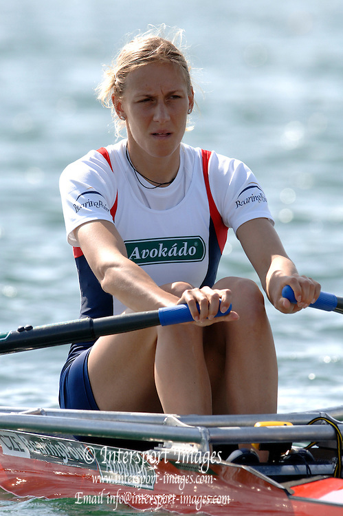 2005 FISA World Cup, Dorney Lake, Eton, ENGLAND, 27.05.05. CZE W1X Mirka Knapkova..Photo  Peter Spurrier. .email images@intersport-images....[Mandatory Credit Peter Spurrier/ Intersport Images] , Rowing Courses, Dorney Lake, Eton. ENGLAND