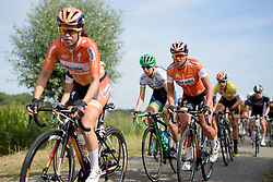 Chantal Blaak (Boels Dolmans) needs the gap to the break to close to retain the race lead at the 111 km Stage 4 of the Boels Ladies Tour 2016 on 2nd September 2016 in 's-Hertogenbosch, Netherlands. (Photo by Sean Robinson/Velofocus).