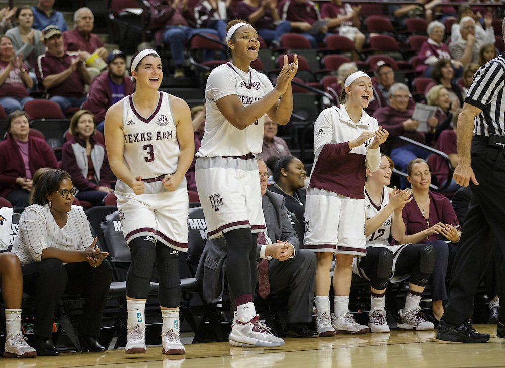 ACU vs. Texas A&M in a NCAA women's basketball game Saturday, Nov. 26, 2016, in College Station, Texas.