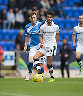 Dundee&rsquo;s Faissal El Bakhtaoui and St Johnstone&rsquo;s Liam Craig - St Johnstone v Dundee, Ladbrokes Scottish Premiership at McDiarmid Park, Perth. Photo: David Young<br /> <br />  - &copy; David Young - www.davidyoungphoto.co.uk - email: davidyoungphoto@gmail.com