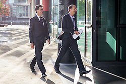 © Licensed to London News Pictures . 24/09/2014 . Media City , Salford , UK . ED MILIBAND takes a break and walks around Salford's Media City in between interviews this morning (Wednesday 24th September 2014)  . Photo credit : Joel Goodman/LNP