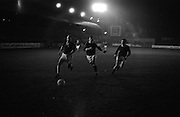 10/03/1965<br /> 03/10/1965<br /> 10 March 1965<br /> F.A.I. Cup replay (2rd round): Cork Celtic v Belgrove  at Tolka Park, Dublin. Celtic won the game 1-0. O'Donovan (Celtic) makes a fine move as his dribbles down the wing past the Belgrove defenders.