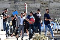 Luka Karabatic / Mickael Robin / Nikola Karabatic - 17.06.2015 - Proces des paris sportifs du Handball - Montpellier<br /> Photo : Alexandre Dimou / Icon Sport