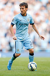David Silva of Manchester City in action - Photo mandatory by-line: Rogan Thomson/JMP - 07966 386802 - 21/08/2014 - SPORT - FOOTBALL - Manchester, England - Etihad Stadium - Manchester City v Chelsea FC - Barclays Premier League.