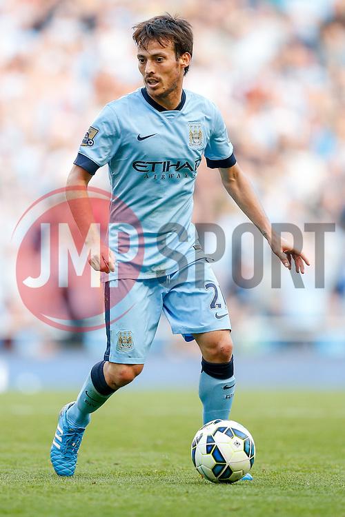 David Silva of Manchester City in action - Photo mandatory by-line: Rogan Thomson/JMP - 07966 386802 - 21/08/2014 - SPORT - FOOTBALL - Manchester, England - Etihad Stadium - Manchester City v Chelsea FC - Barclays Premier League.