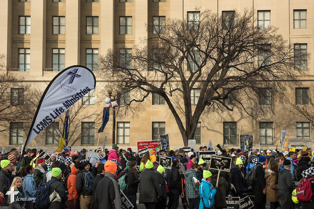 Lutherans participate in the 2015 March for Life on Thursday, Jan. 22, 2015, in Washington, D.C. LCMS Communications/Erik M. Lunsford