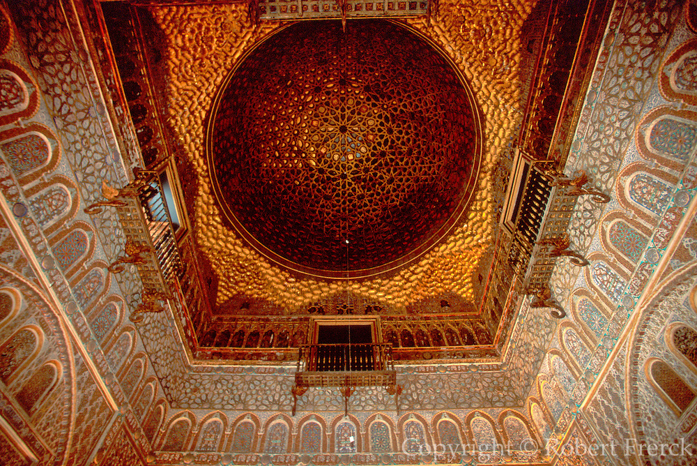 SPAIN, ANDALUSIA, SEVILLE Alcazar; Salon de Embajadores