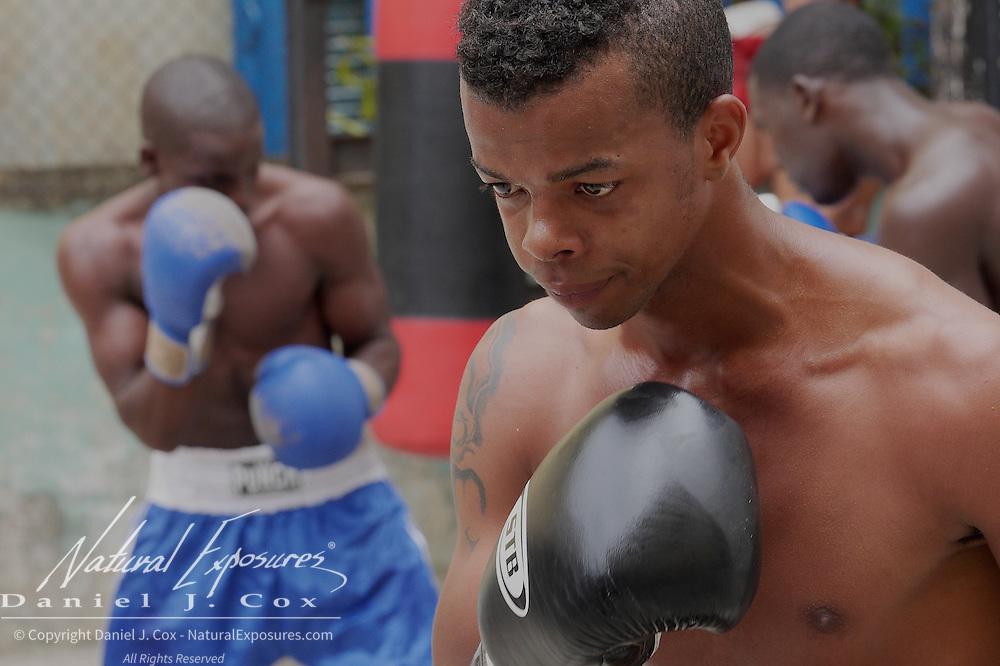 Young Cuban boxers training at the Rafael Trejo Boxing Gym, Havana, Cuba
