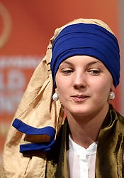 30-03-2015 NED: FIVB Drawing WCH Beach Volleyball, The Hague<br /> The Drawing of Lots for the FIVB Beach Volleyball World Championships The Netherlands 2015 will take place at the Mauritshuis art museum / Het meisje met de parel