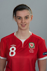 TREFOREST, WALES - Tuesday, February 14, 2011: Wales' Zoe Atkins. (Pic by David Rawcliffe/Propaganda)
