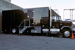 Audio Recording Studio Truck parked in position outside the Hampton Coliseum. Photographed just before the Second Warlocks Show began. The Grateful Dead Live at The Hampton Coliseum 9 October 1989