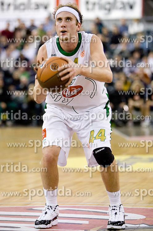 Matt Vincent Walsh (44) of Olimpija at Group C of Euroleague basketball match between KK Union Olimpija, Slovenia and Caja Laboral, Spain, on November 5, 2009, in Arena Tivoli, Ljubljana, Slovenia.  (Photo by Vid Ponikvar / Sportida)