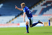 Andy Cannon celebrates the opening goal 1-0 Rochdale during the EFL Sky Bet League 1 match between Rochdale and Peterborough United at Spotland, Rochdale, England on 6 August 2016. Photo by Daniel Youngs.