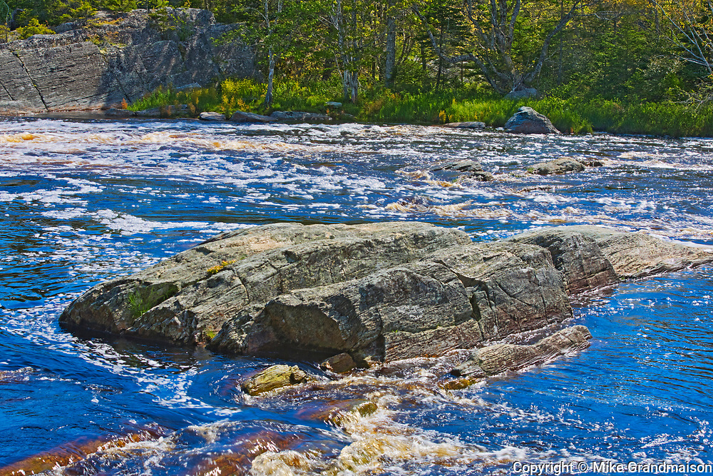 Rapids and waterfall on the Liscomb River, Liscomb Mills, Nova Scotia, Canada