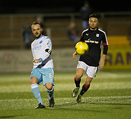 Forfar's Martyn Fotheringham and Dundee&rsquo;s Marc Klok - Forfar Athletic v Dundee, Martyn Fotheringham testimonial at Station Park, Forfar.Photo: David Young<br /> <br />  - &copy; David Young - www.davidyoungphoto.co.uk - email: davidyoungphoto@gmail.com