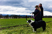Corbridge, Northumberland, England, UK. 28th February 2016. Spectators in the fields at the Tynedale Hunt annual Point to Point horse racing fixture.
