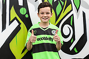 Young FGR fan in Player Layer kit during the EFL Sky Bet League 2 match between Forest Green Rovers and Cheltenham Town at the New Lawn, Forest Green, United Kingdom on 20 October 2018.