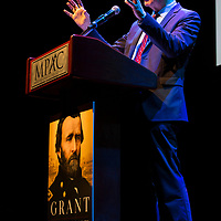 Ron Chernow gives keynote address at 2017 Morristown Festival of Books, Morristown, NJ, 10/13/17.