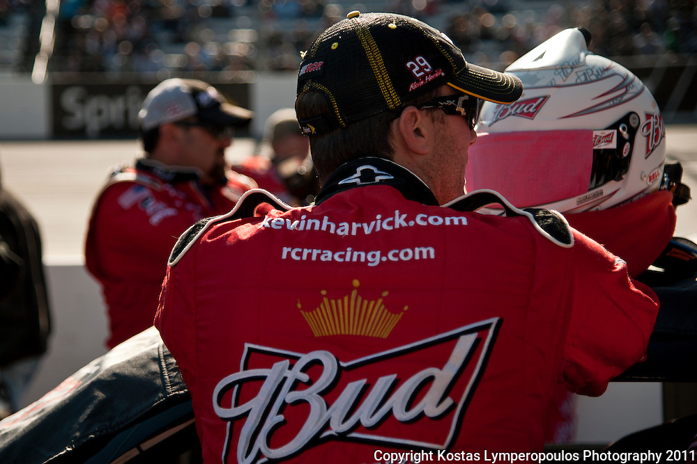 October 30, 2011; Martinsville, VA, USA; NASCAR Sprint Cup Series driver Kevin Harvick (29) before the TUMS Fast Relief 500 at Martinsville Speedway. Mandatory Credit: Kostas Lymperopoulos