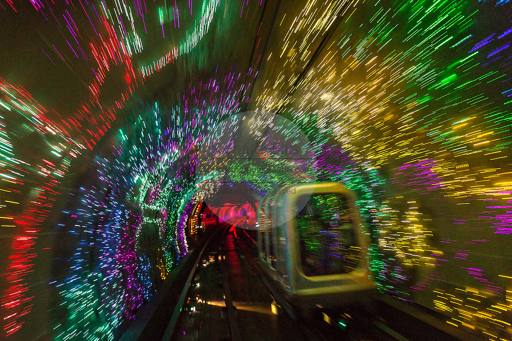 Tram in the Bund Sightseeing Tunnel Shanghai, China